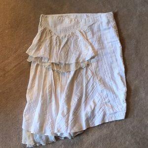 Fornarina cotton linen blend skirt.